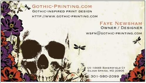 Gothic printing website business card colourmoves